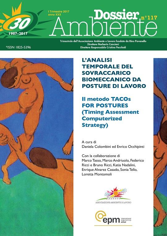 Dossier Ambiente 117 – L'Analisi temporale del sovraccarico biomeccanico da posture di Lavoro