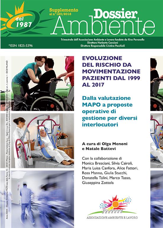 Supplemento Dossier Ambiente 123 – Evoluzione del rischio da movimentazione pazienti dal 1999 al 2017